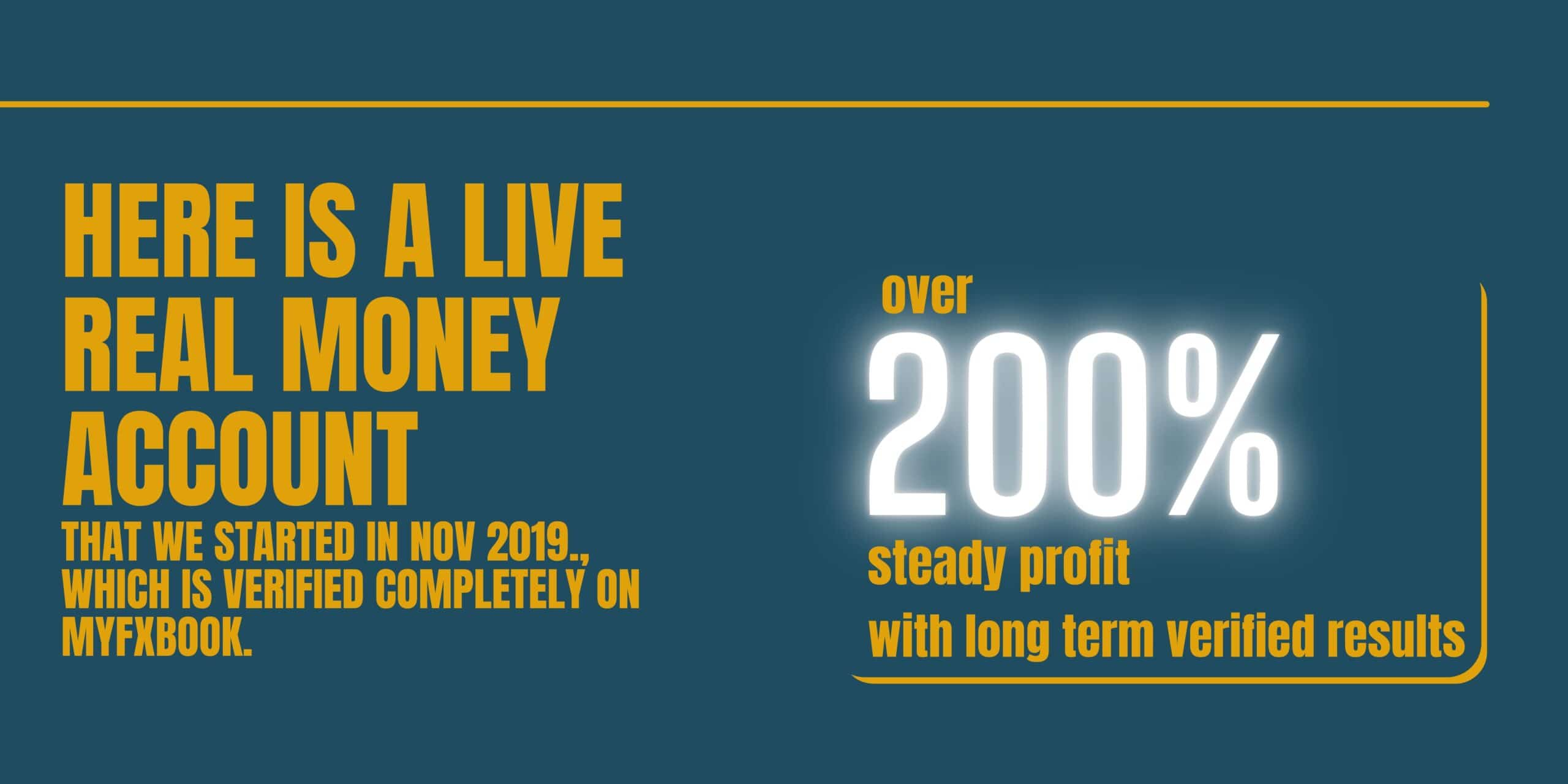 Here is a LIVE REAL MONEY Account that we started in November 2009 with a deposit of 4,750 USD.